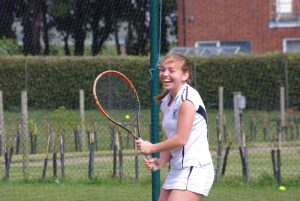 Girl enjoying tennis