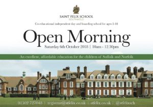 OCTOBER 2018 OPEN MORNING IMAGE